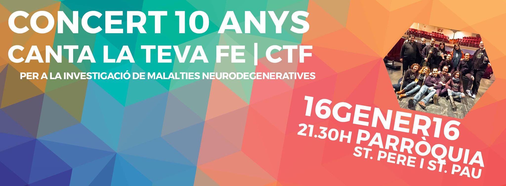 """Concert """"Canta la teva FE"""". Dissabte 16 gener, 21,30h"""